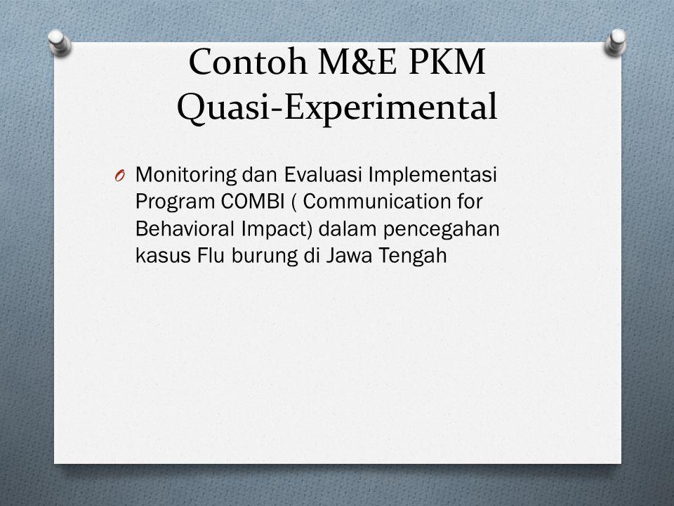 Contoh M&E PKM Quasi-Experimental
