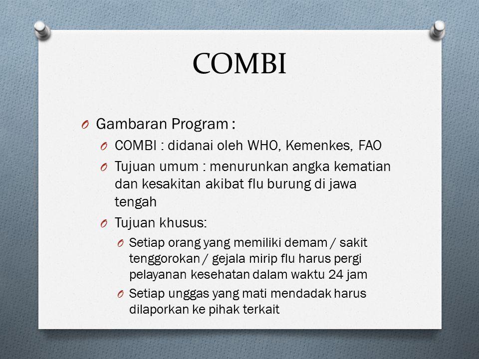 COMBI Gambaran Program : COMBI : didanai oleh WHO, Kemenkes, FAO