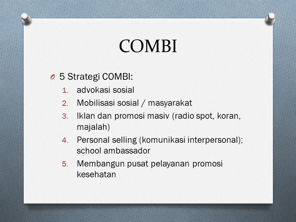 COMBI 5 Strategi COMBI: advokasi sosial Mobilisasi sosial / masyarakat