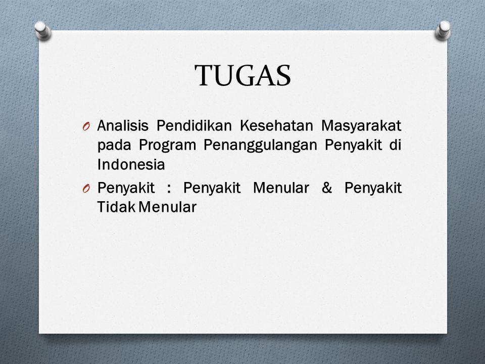 TUGAS Analisis Pendidikan Kesehatan Masyarakat pada Program Penanggulangan Penyakit di Indonesia.