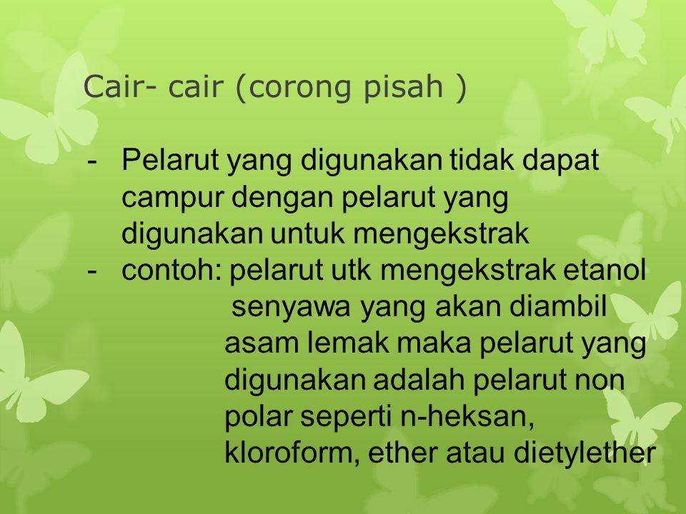 Cair- cair (corong pisah )