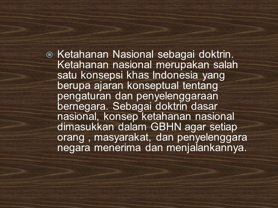 Ketahanan Nasional sebagai doktrin