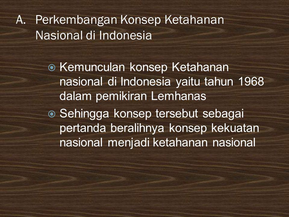 Perkembangan Konsep Ketahanan Nasional di Indonesia
