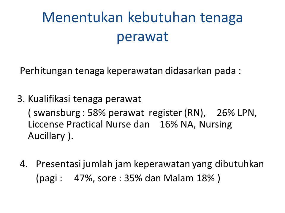 Menentukan kebutuhan tenaga perawat
