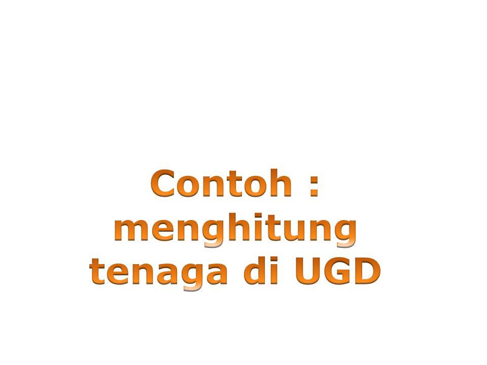 Contoh : menghitung tenaga di UGD