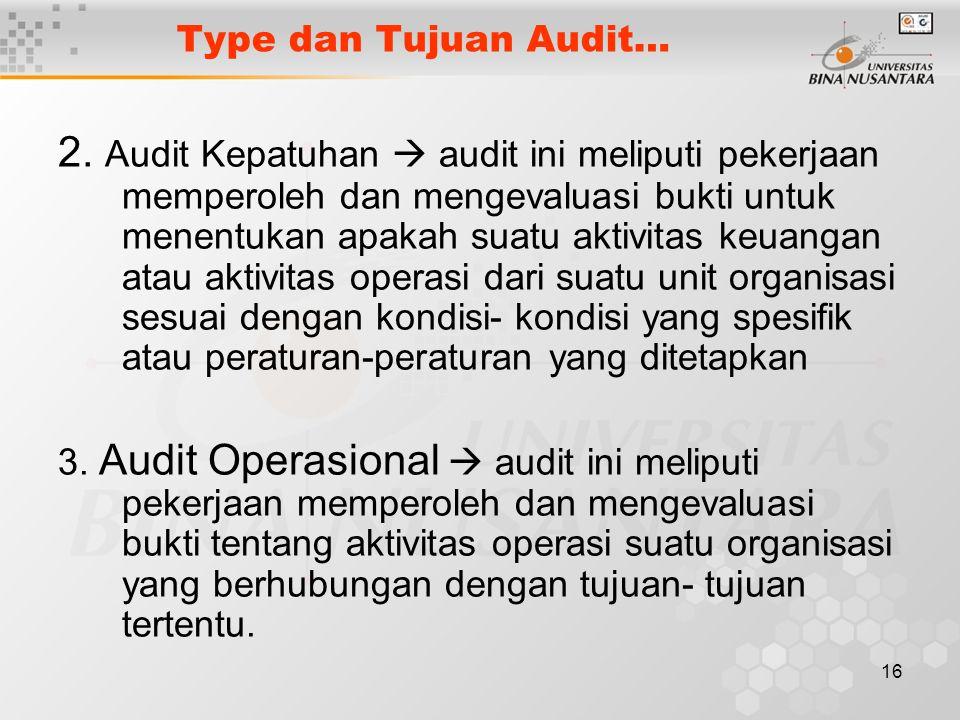 Type dan Tujuan Audit…