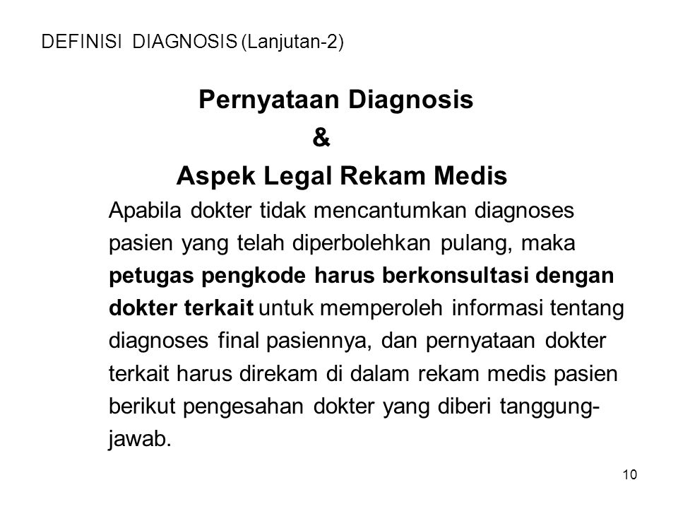 DEFINISI DIAGNOSIS (Lanjutan-2)