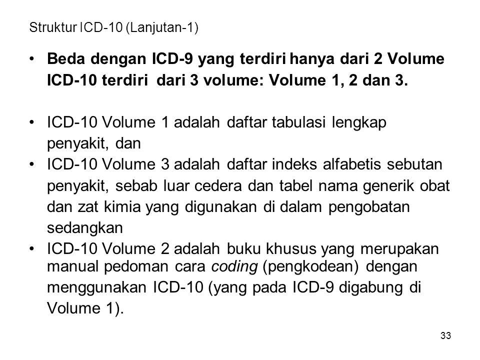 Struktur ICD-10 (Lanjutan-1)
