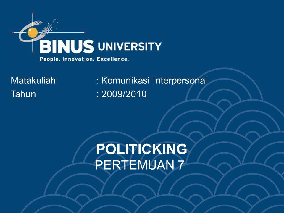 POLITICKING PERTEMUAN 7