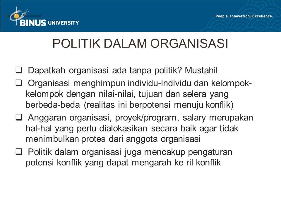 POLITIK DALAM ORGANISASI