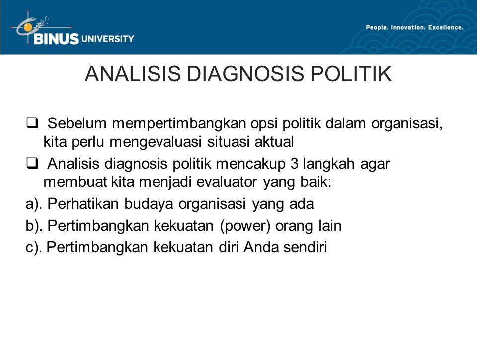 ANALISIS DIAGNOSIS POLITIK