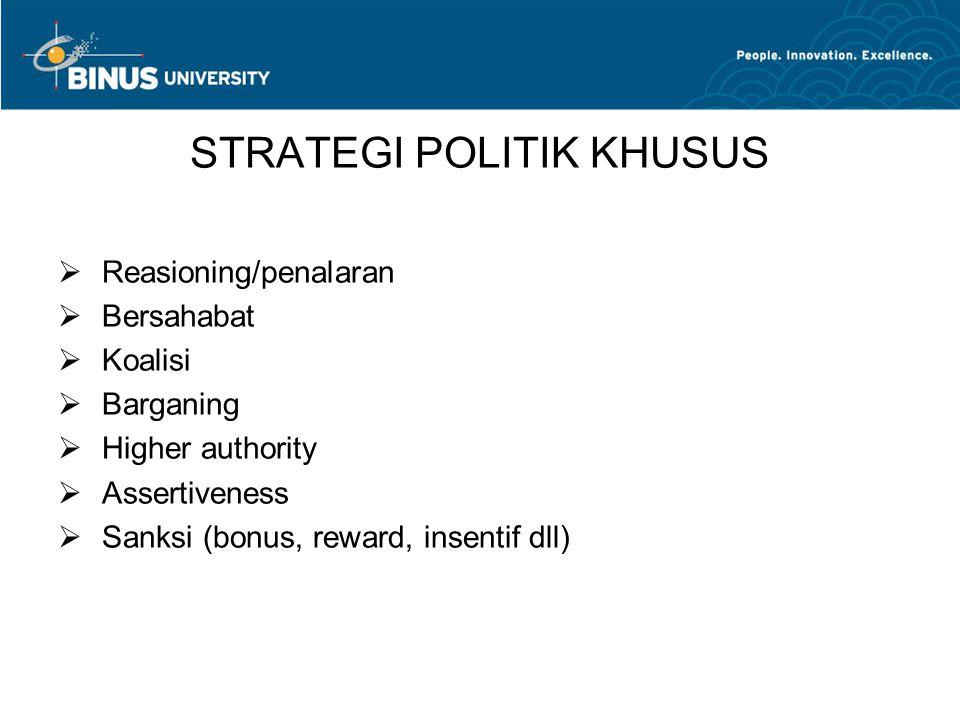 STRATEGI POLITIK KHUSUS