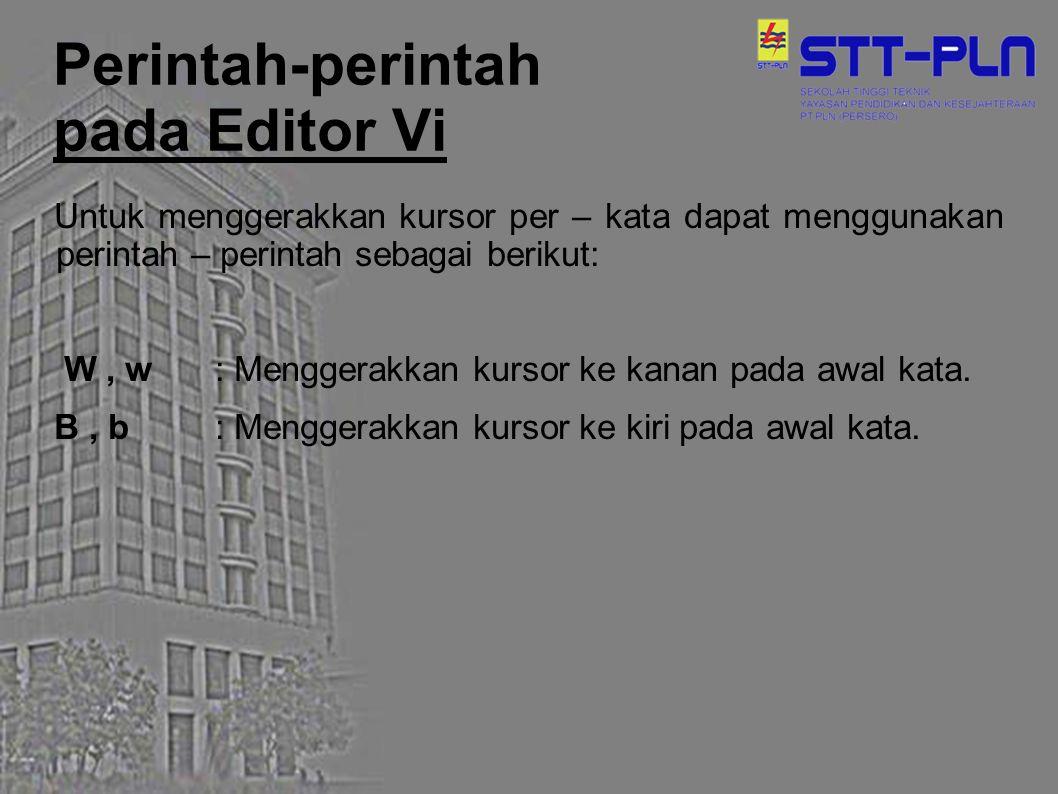 Perintah-perintah pada Editor Vi