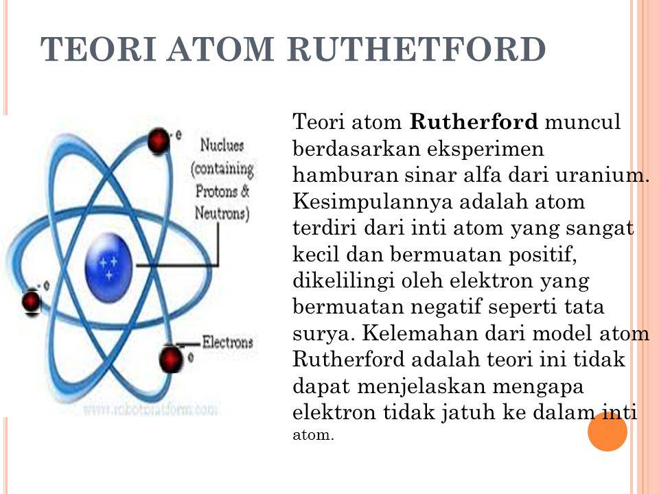 TEORI ATOM RUTHETFORD