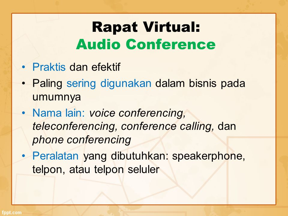 Rapat Virtual: Audio Conference