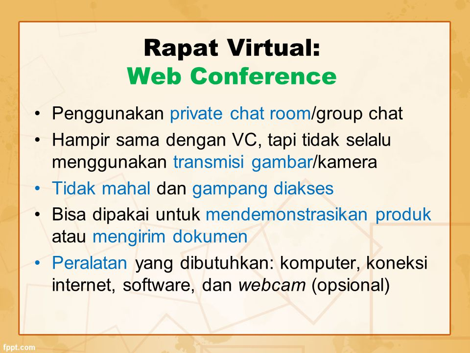 Rapat Virtual: Web Conference