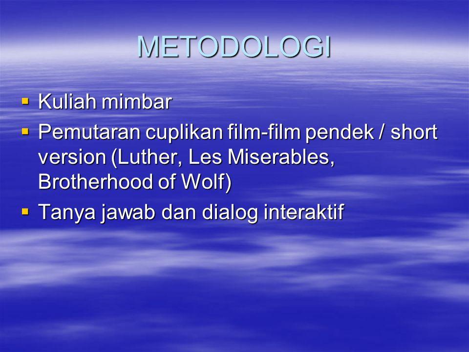 METODOLOGI Kuliah mimbar