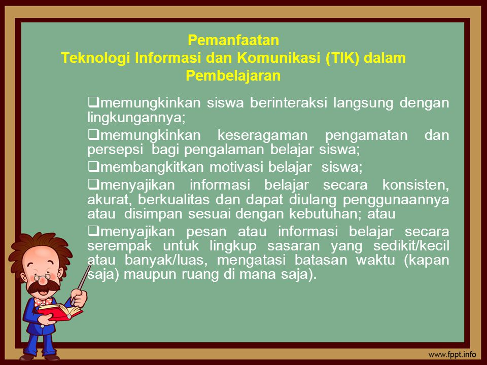Pemanfaatan Teknologi Informasi dan Komunikasi (TIK) dalam Pembelajaran