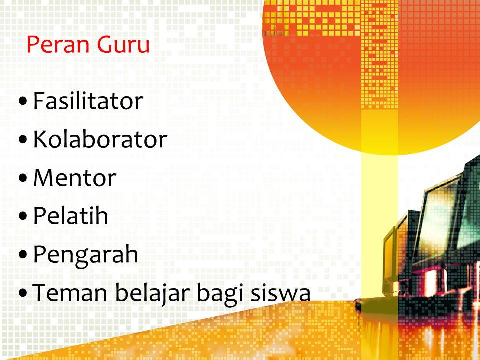 Peran Guru Fasilitator Kolaborator Mentor Pelatih Pengarah Teman belajar bagi siswa