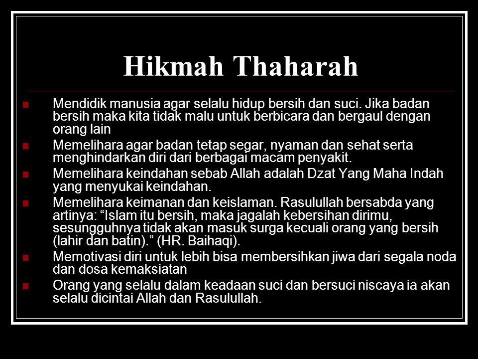 Hikmah Thaharah