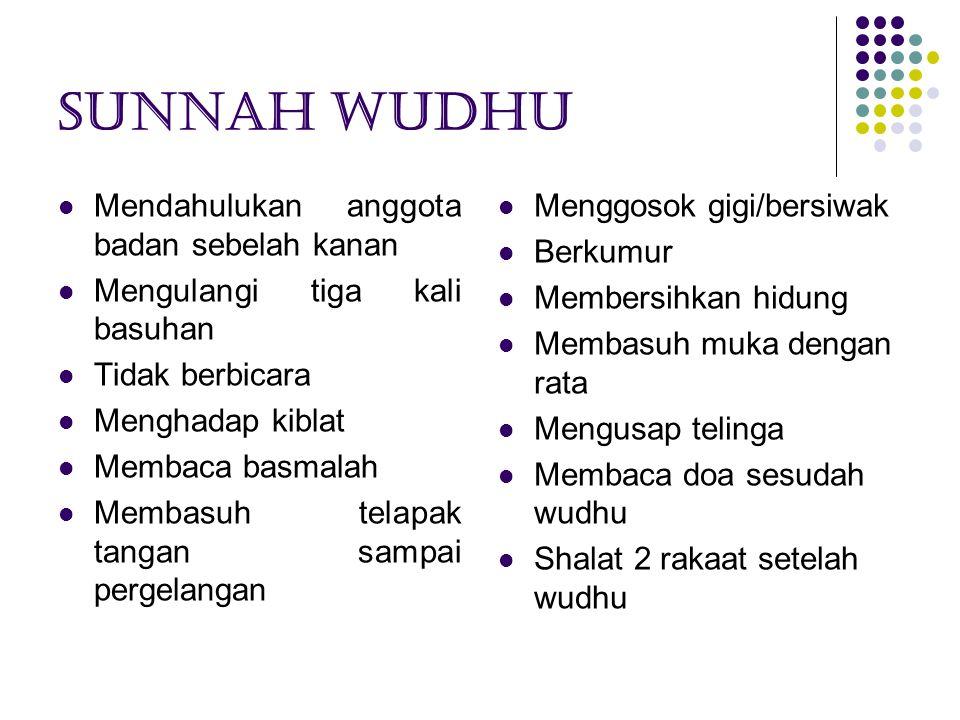 Sunnah wudhu Mendahulukan anggota badan sebelah kanan