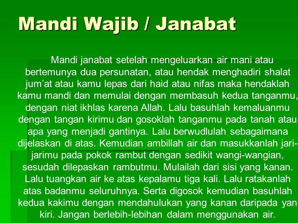Mandi Wajib / Janabat