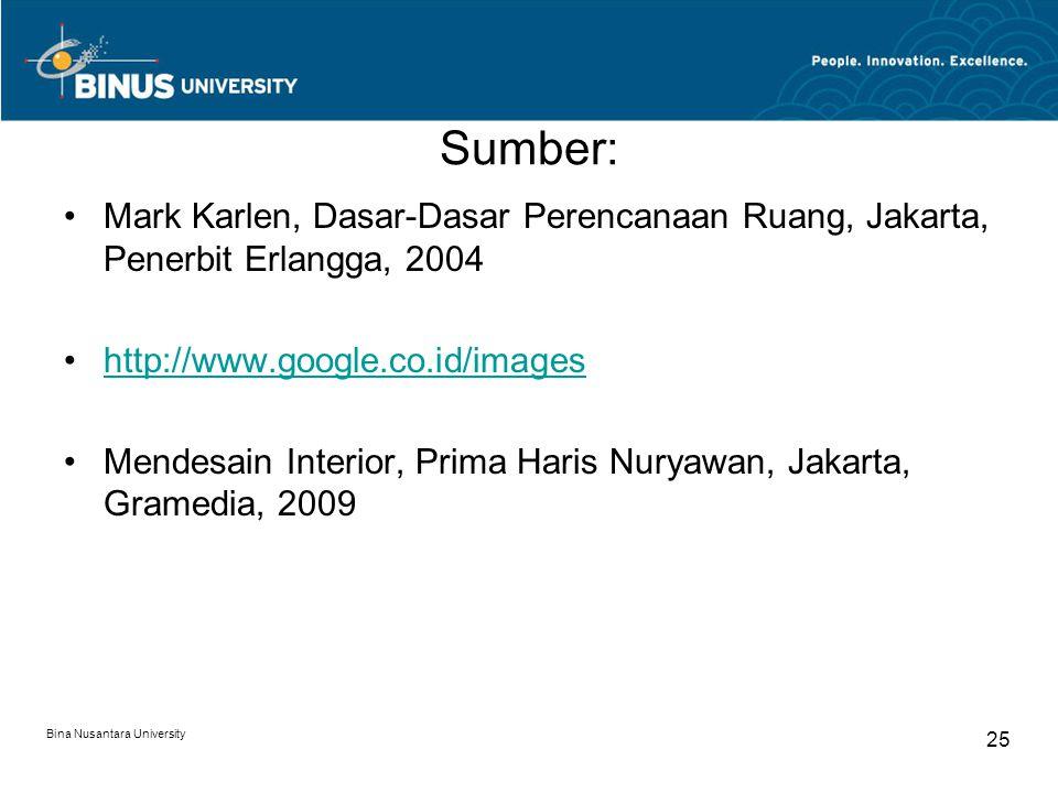 Sumber: Mark Karlen, Dasar-Dasar Perencanaan Ruang, Jakarta, Penerbit Erlangga, 2004. http://www.google.co.id/images.