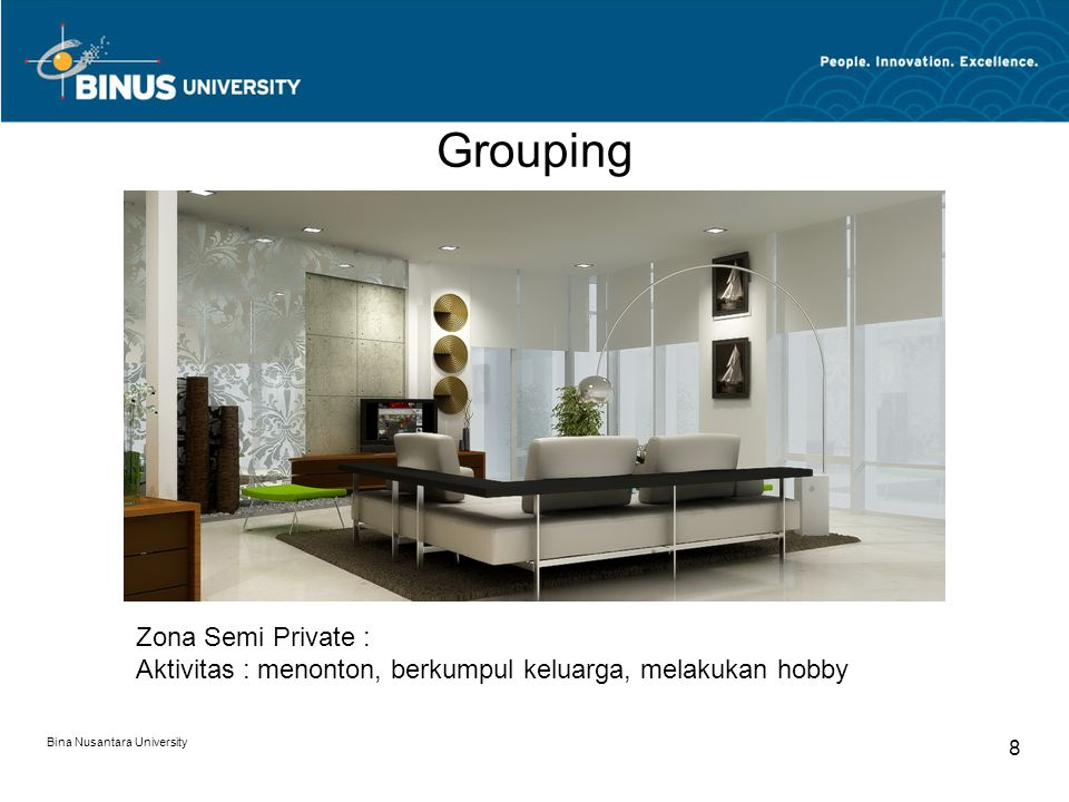 Grouping Zona Semi Private :