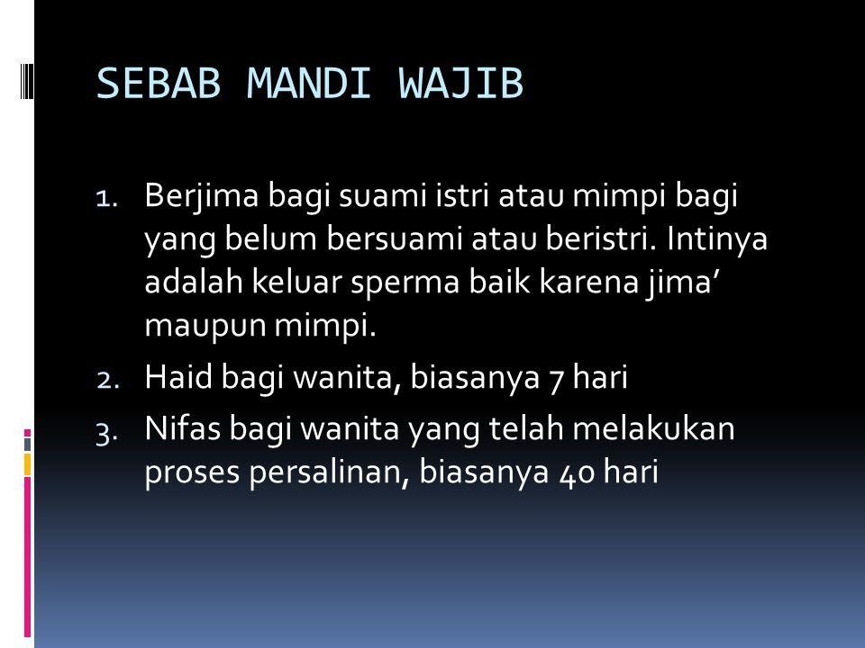 SEBAB MANDI WAJIB