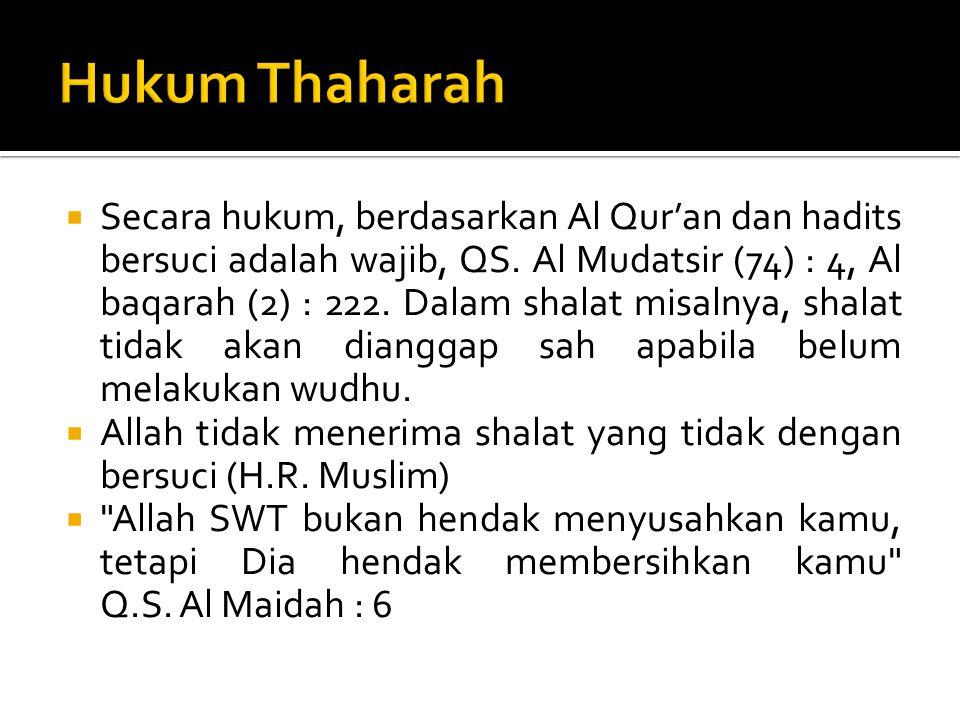 Hukum Thaharah