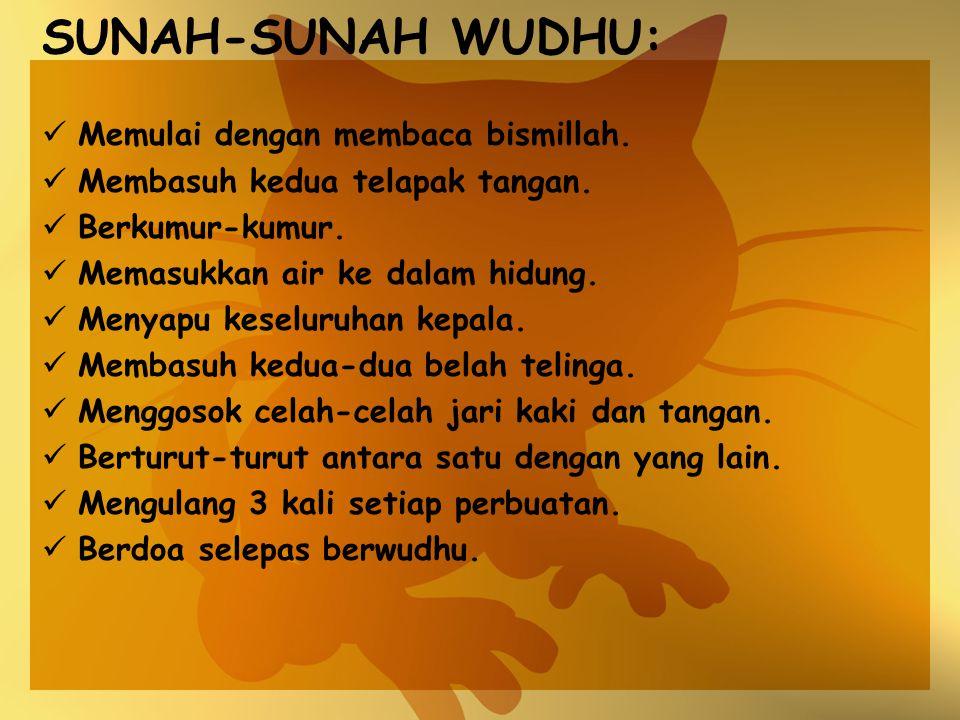 SUNAH-SUNAH WUDHU: Memulai dengan membaca bismillah.