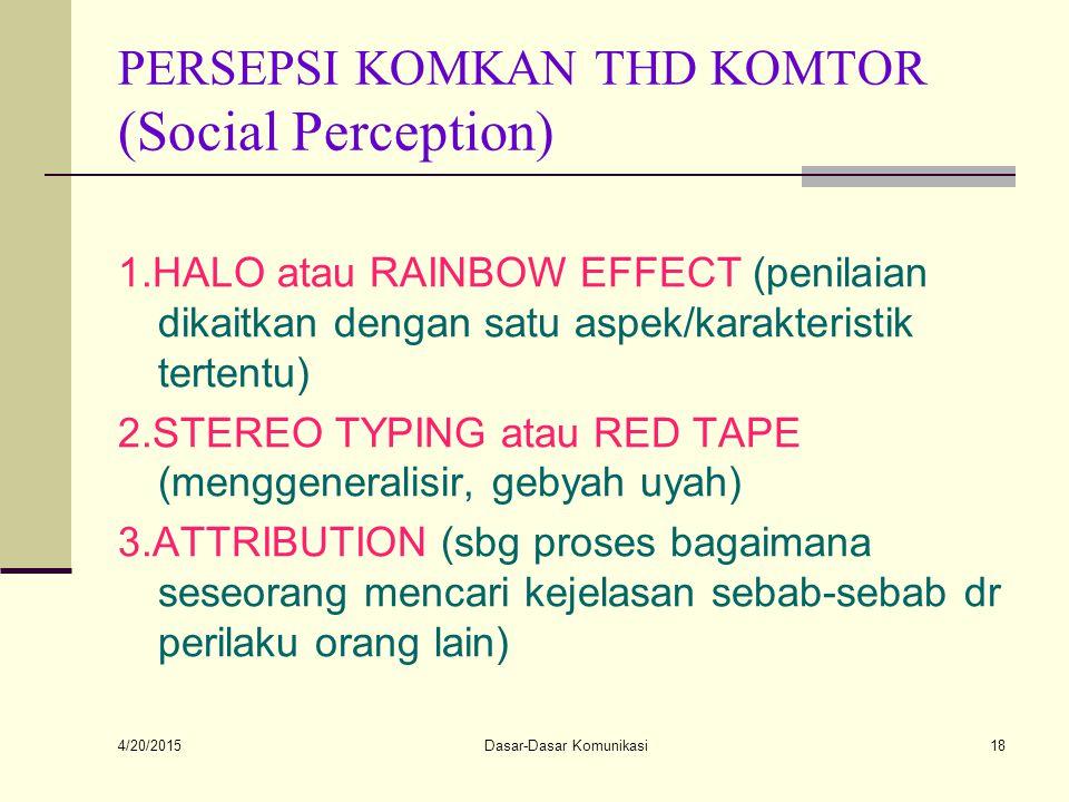 PERSEPSI KOMKAN THD KOMTOR (Social Perception)