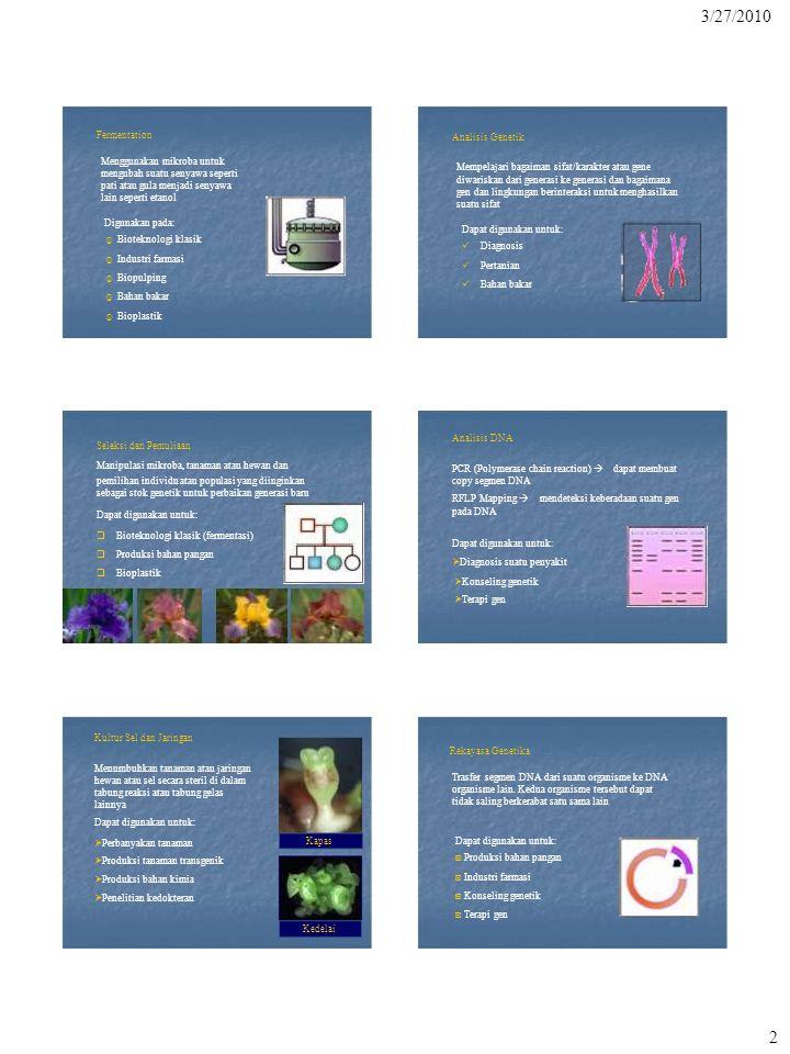 Konseling genetik ◙ Terapi gen 3/27/2010 Fermentation