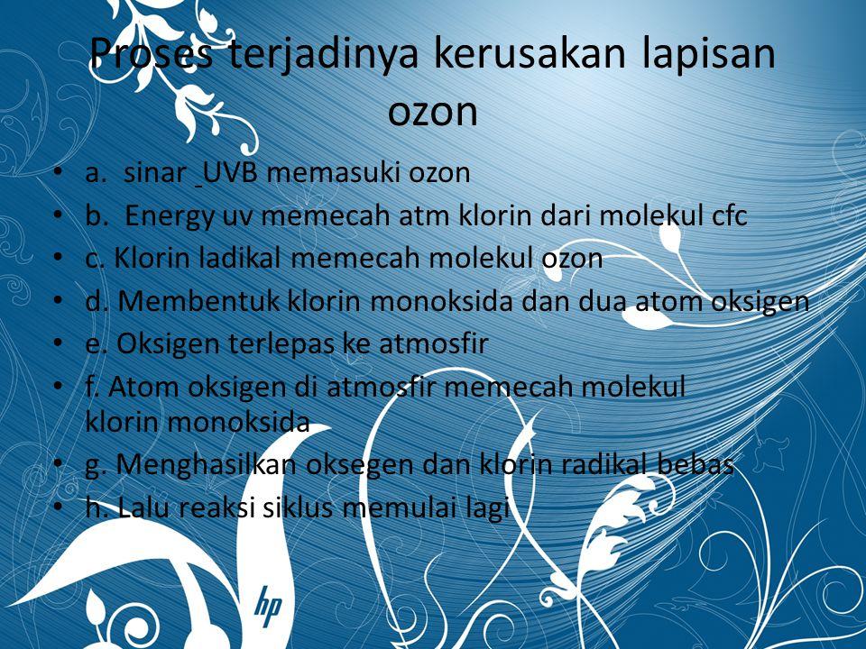 Proses terjadinya kerusakan lapisan ozon