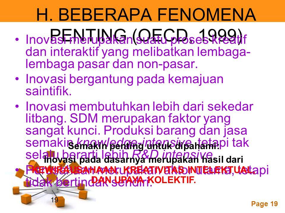 H. BEBERAPA FENOMENA PENTING (OECD, 1999)
