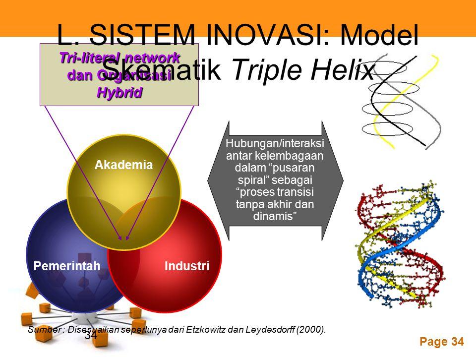 L. SISTEM INOVASI: Model Skematik Triple Helix