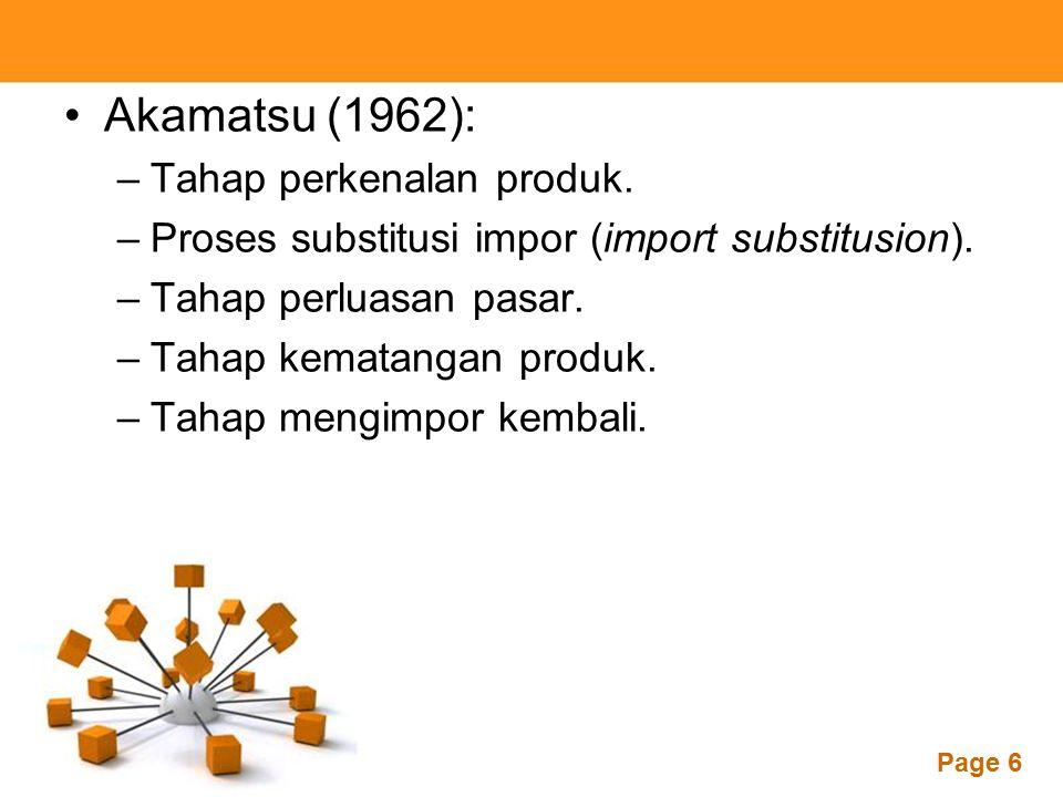 Akamatsu (1962): Tahap perkenalan produk.