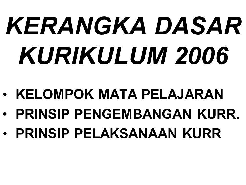KERANGKA DASAR KURIKULUM 2006