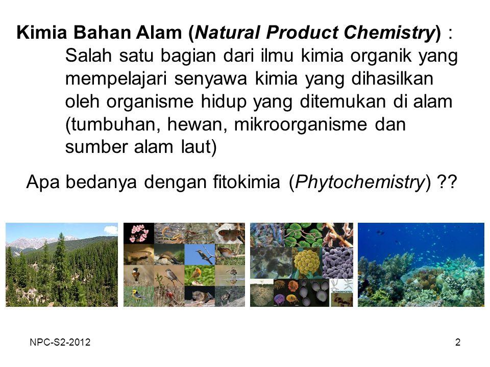 Kimia Bahan Alam (Natural Product Chemistry) :