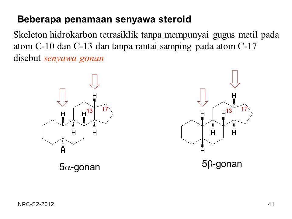 Beberapa penamaan senyawa steroid