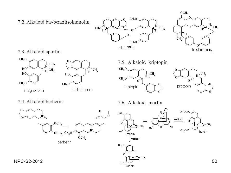 7.2. Alkaloid bis-benzilisokuinolin