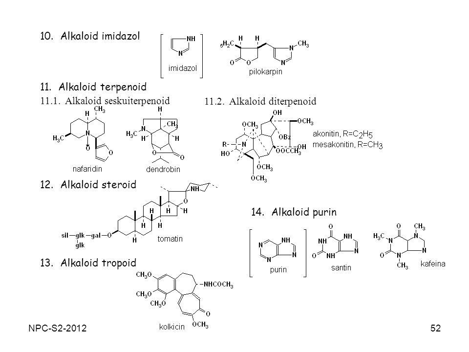 11.1. Alkaloid seskuiterpenoid 11.2. Alkaloid diterpenoid