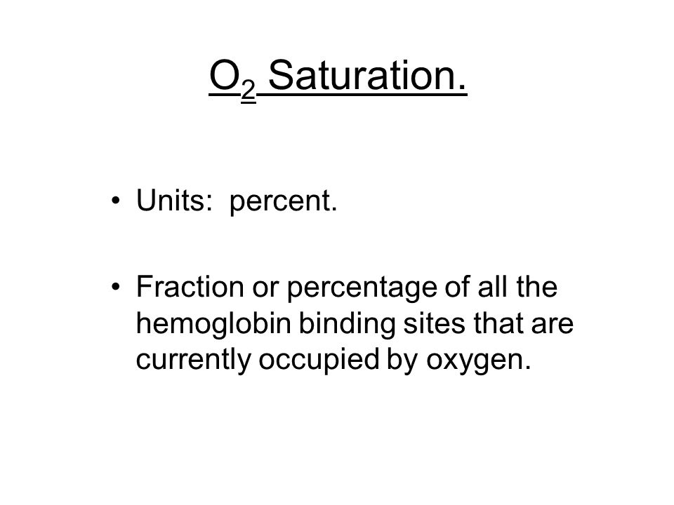 O2 Saturation. Units: percent.