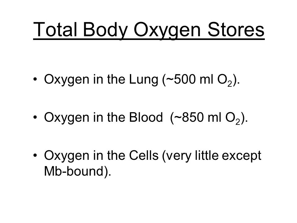 Total Body Oxygen Stores