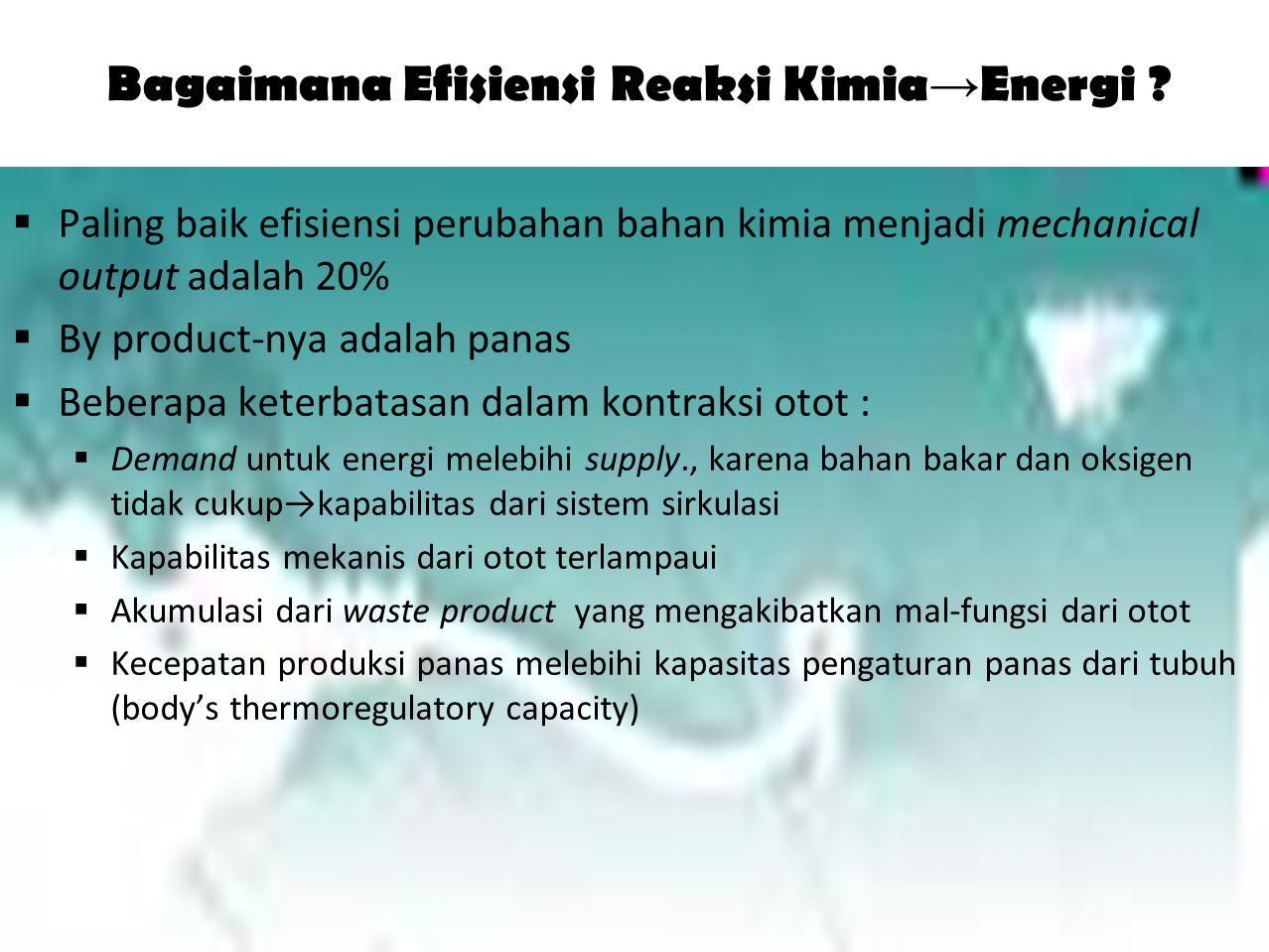 Bagaimana Efisiensi Reaksi Kimia→Energi