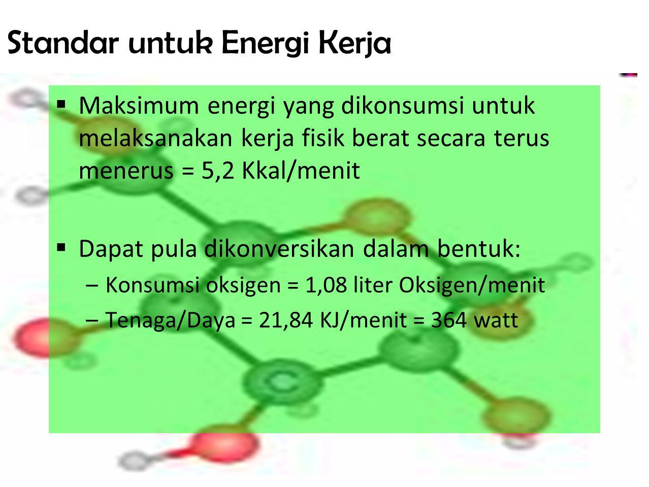 Standar untuk Energi Kerja