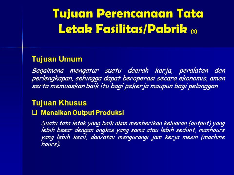 Tujuan Perencanaan Tata Letak Fasilitas/Pabrik (1)
