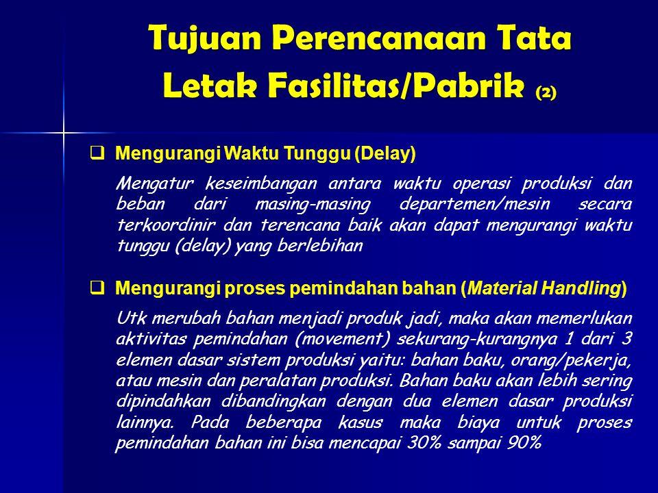 Tujuan Perencanaan Tata Letak Fasilitas/Pabrik (2)
