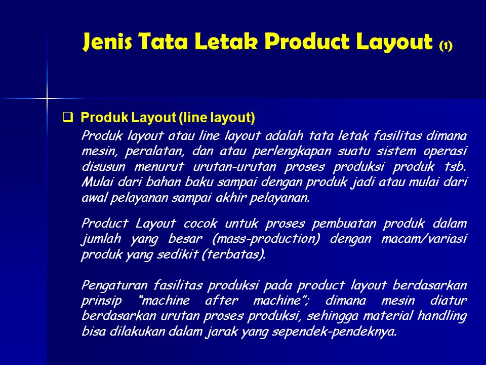 Jenis Tata Letak Product Layout (1)