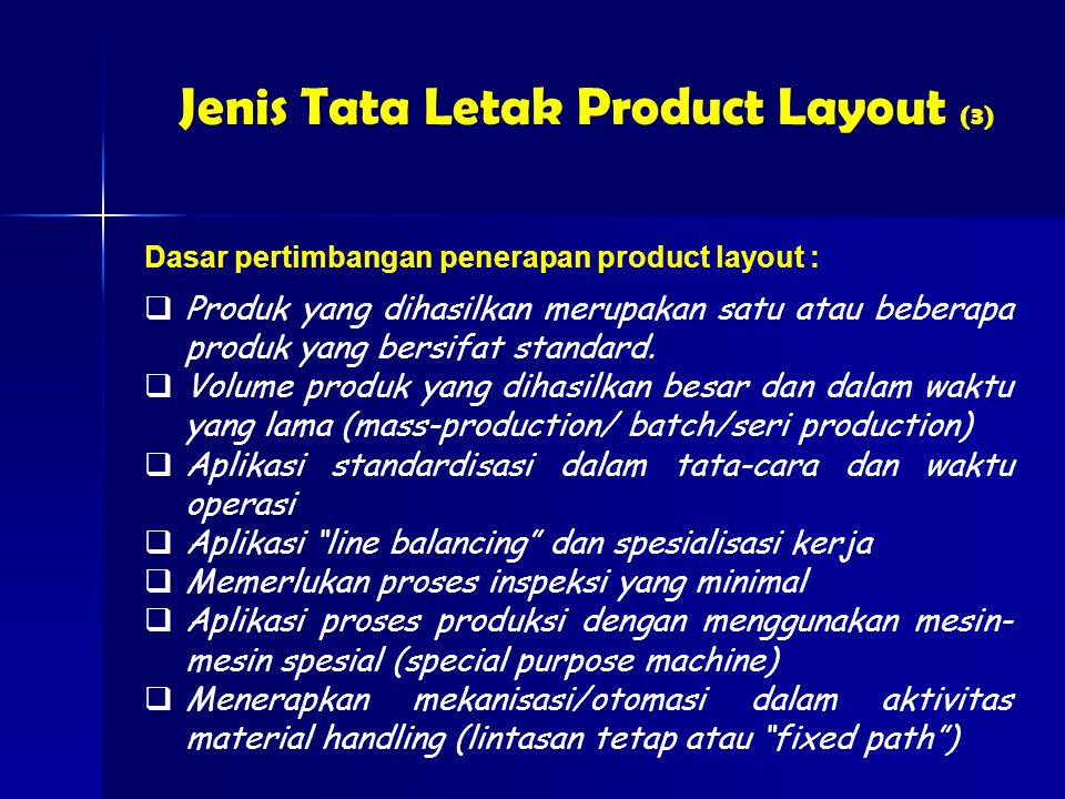Jenis Tata Letak Product Layout (3)